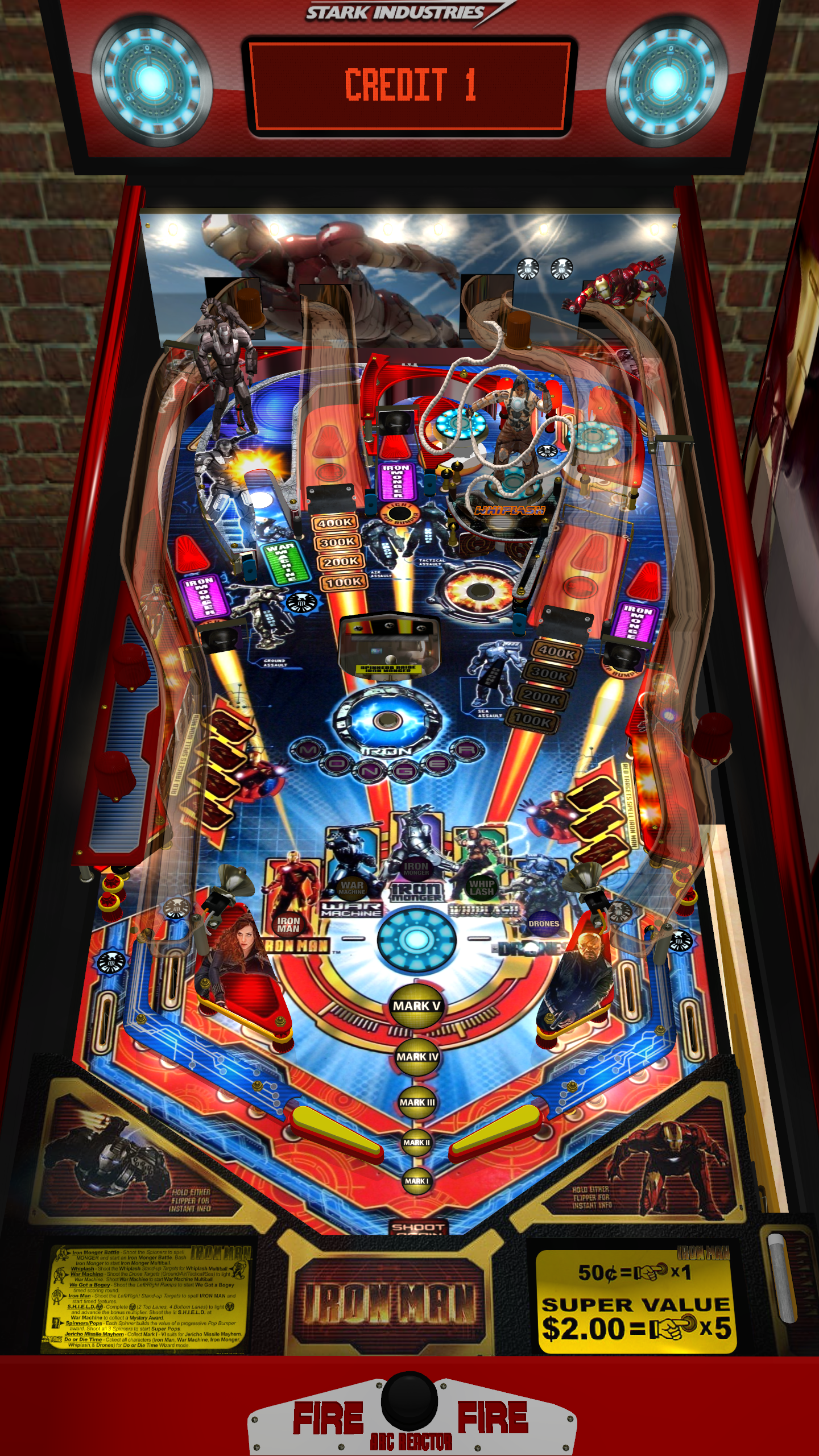 Playfield as it appears on a rotated display
